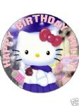 7.5 PERSONALISED HELLO KITTY Birthday Icing or Wafer Cake Topper
